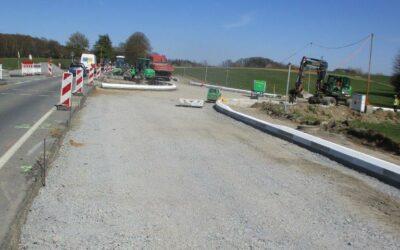 Bau des Kreisverkehrsplatzes L324/ Lise-Meitner-Straße/ Abzweig Alfenzingen