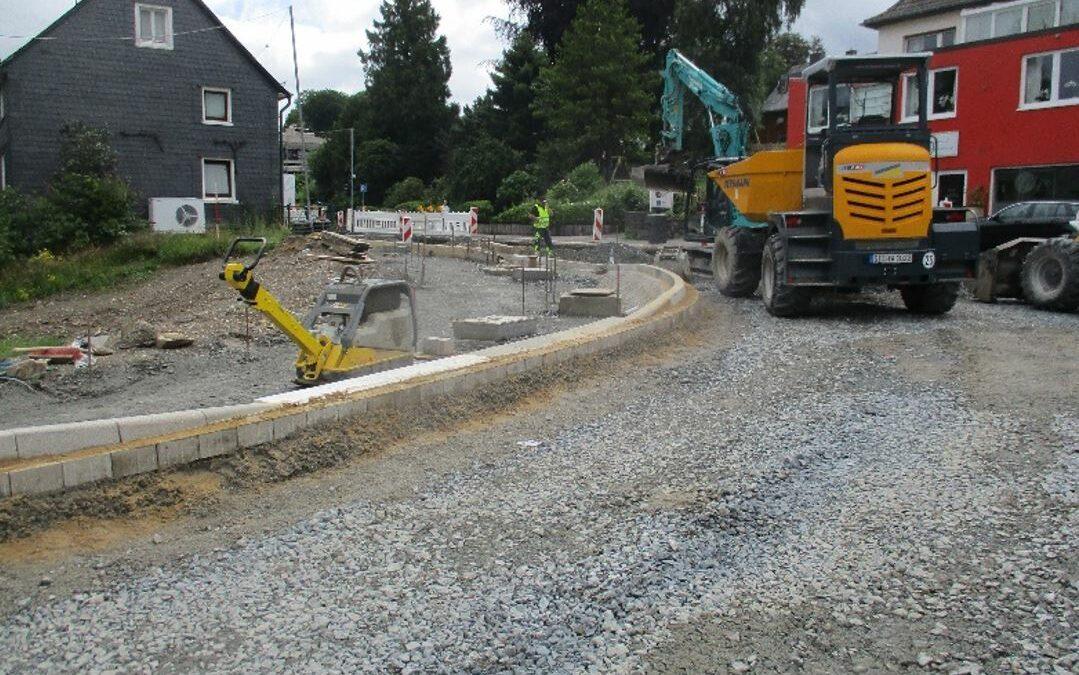 Baufortschritt bei der Umgestaltung der Kaiserstraße (B256)