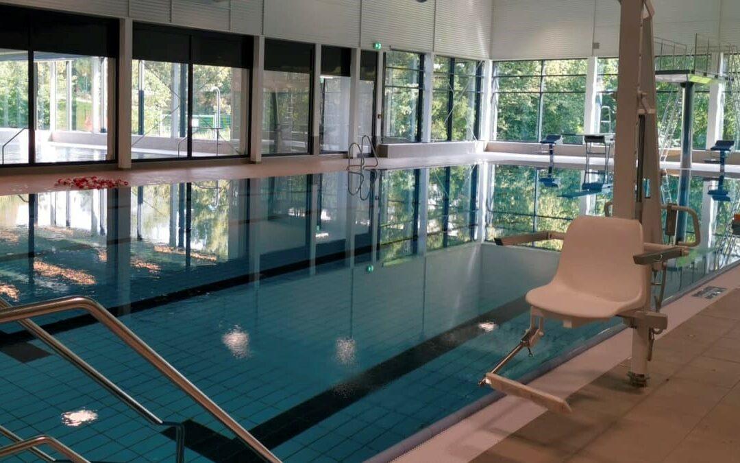 Noch eine letzte Verschiebung gibt's im neuen Schwimmbad BALNEO